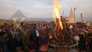بالصور والفيديو: شعلة نوروز في بعشيقة