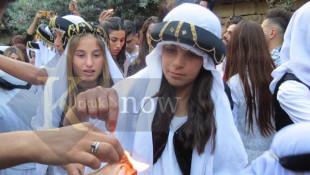 بالصور: مراسيم ايقاد القناديل في معبد لالش بمناسبة عيد الاربعاء الاحمر