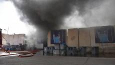 رئيس مجلس النواب يدعو لإعادة الانتخابات.. <BR>الدفاع المدني يعلن سيطرته على حريق مخزن مفوضية الانتخابات