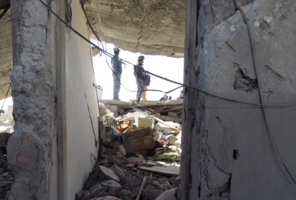 Kirkuk Now kamerasından Musul'un sağ semti çatışmaları