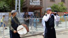 14. gün için ..Kerkük şehrinde seçim sonuçlarına karşı devam eden gösteriler