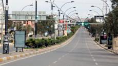 Kirkuk streets deserted under Covid-19 variant lockdown