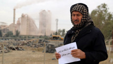 Protest against polluting cement factory in Kirkuk