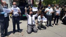 Kirkuk teachers demonstrate in support of arrested colleague