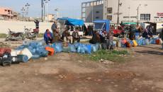 In Kirkuk, people demonstrated against lack of Kerosene