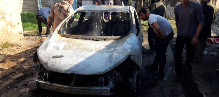 احتراق خمسة مواطنين بقصف لطائرات تركية في سنجار