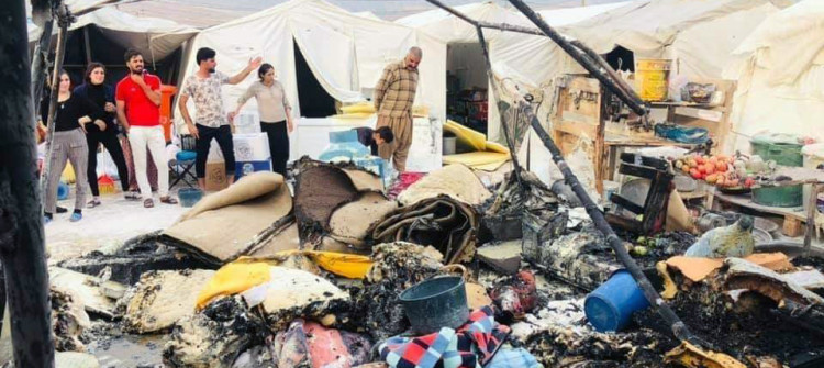 No Fire fighters in IDP camps