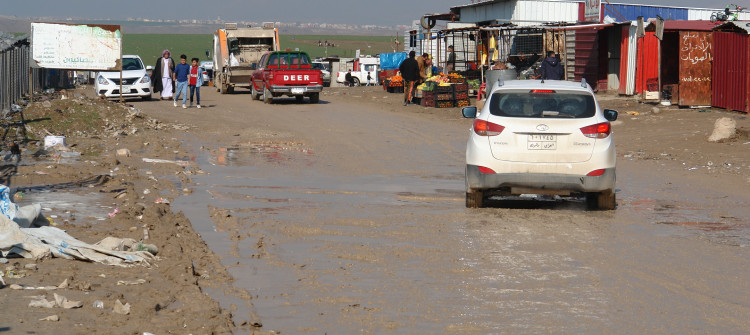 Muddy road is barrier to IDPs mobility