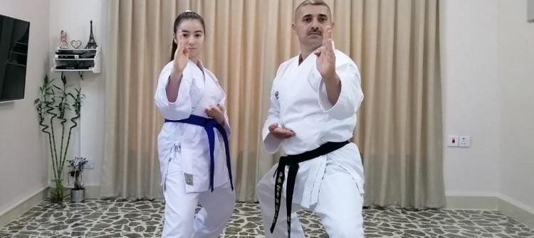 الكاراتيه عن بُعد...<BR>كورونا حرمت ماجد الكاكائي من قاعته و حرمت ابنته من الحزام الأسود