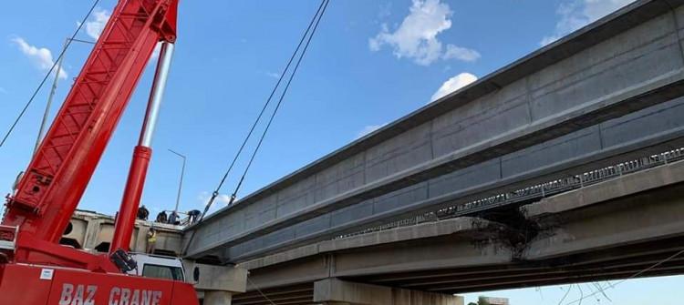 Reconstruction of Altun Kupri bridge linking Kirkuk-Erbil roads is ongoing