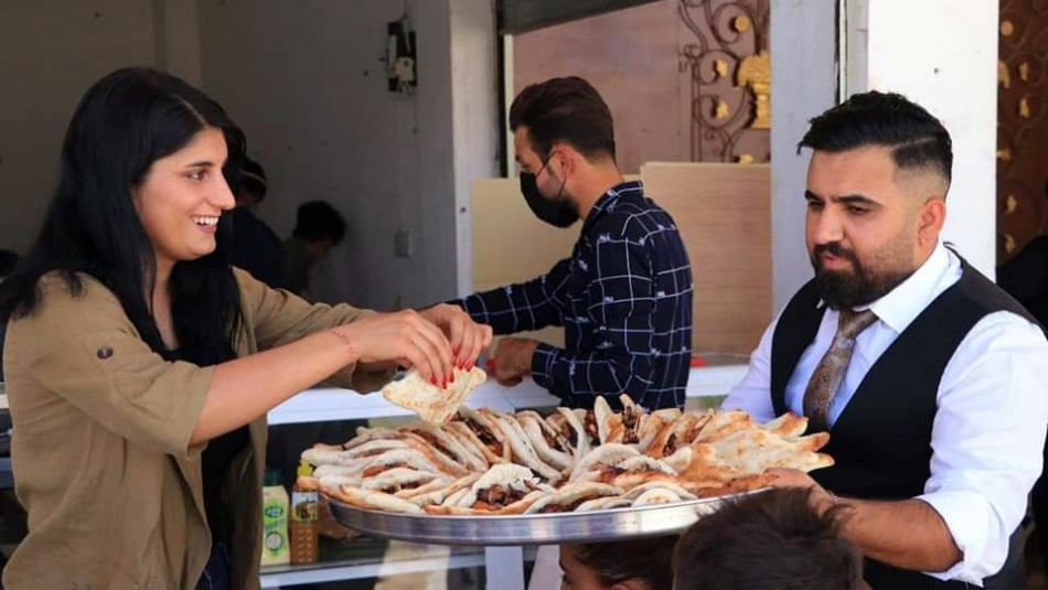 Bride and groom open shop for orphans