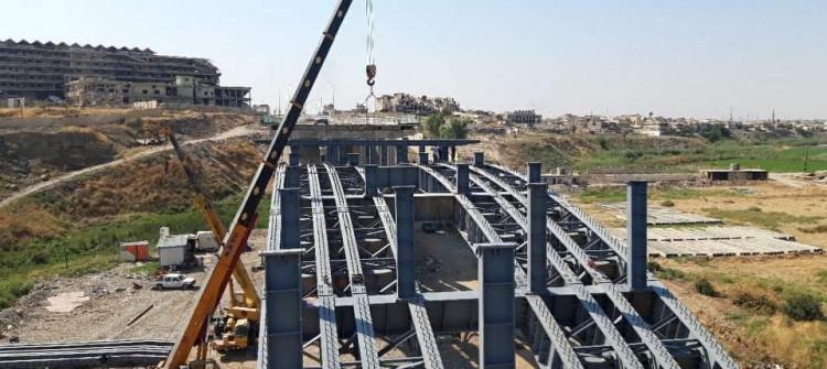 كشفت عن خططها المستقبلية..<br> جسور نينوى تعلن نسبة انجاز 67% من اعادة اعمار بناء الجسر الثالث في مدينة الموصل