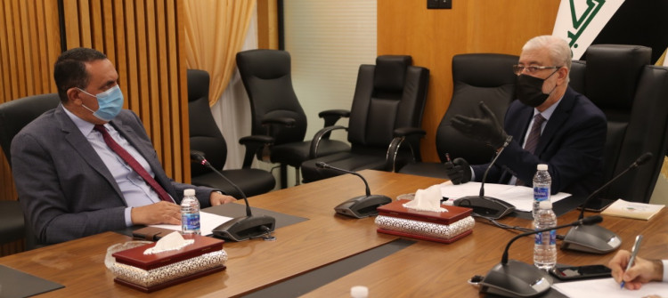 Kirkuk officials met with MPs and Parliament's second deputy speaker