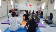 Ronak, yogayla kamptaki kadınlara hayatı aşılıyor