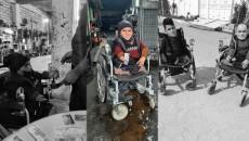 Ezidi göçmen Eyad engeline rağmen ailesini destekliyor