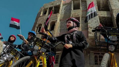 Ninova Gençlik ve Spor Müdürlüğü, Musul'da kadın bisiklet yarışı düzenledi