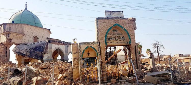 El-Nuri Ulu Camii ve El-Hadba Minaresi'nin restore çalışmalarında tartışma