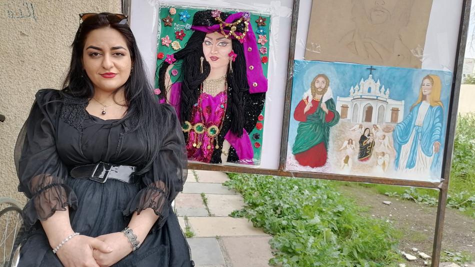 Fatime yeteneğini Dünya Kadınlar Günü'nde sergiledi