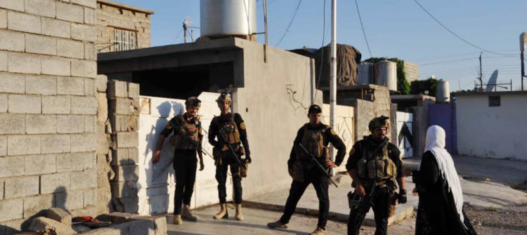 Security forces conduct house to house searches across Kirkuk neighborhoods