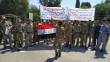 حراس الانابيب النفطية في كركوك يتظاهرون للمطالبة بتثبيتهم على الملاك الدائم