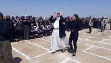 Work starts on the setting up of a cemetery for Ezidi victims in Kojo