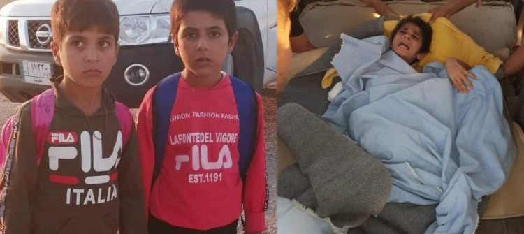 Three Turkmen children freed from IS captivity arrive home