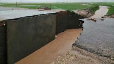 انهيار مجسرين نتيجة الامطار في نينوى