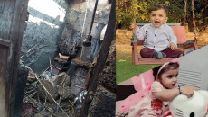 Two displaced Yazidi children died in house fire