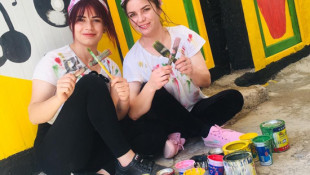 Fryal and her sister took advantages of their free times during the lockdown to paint their tents
