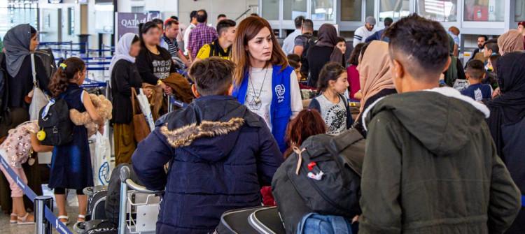 Twenty eight Ezidi families depart for France