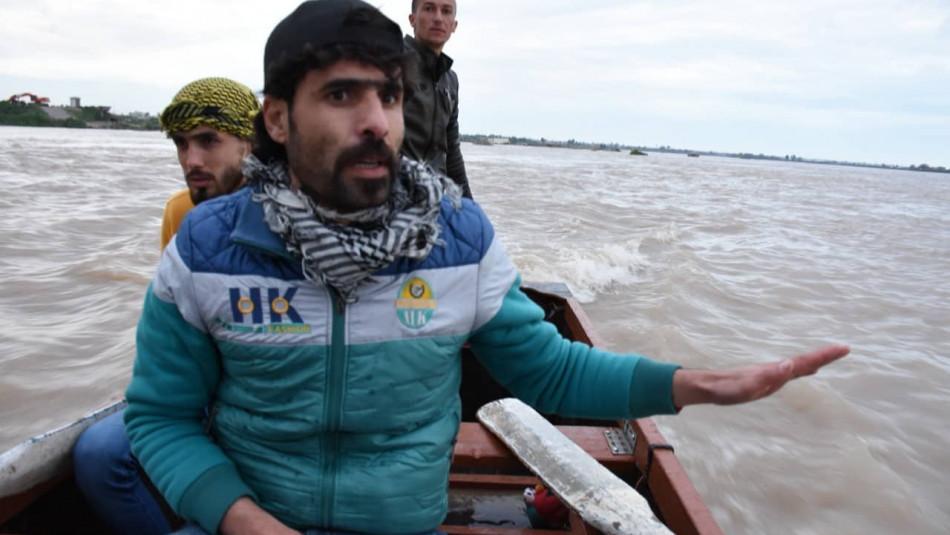 Hayri ve gönüllü grubu Musul'da batan feribot kurbanlarını aramak için olağanüstü bir görev üstlendi