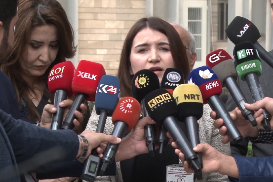 Women Rights Activists hand a petition signed by over 6,000 people to Kurdistan Region parliament